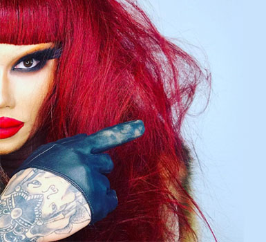 Kimora with red hair