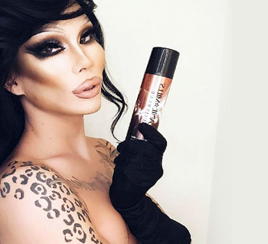 Kimora with dark hair