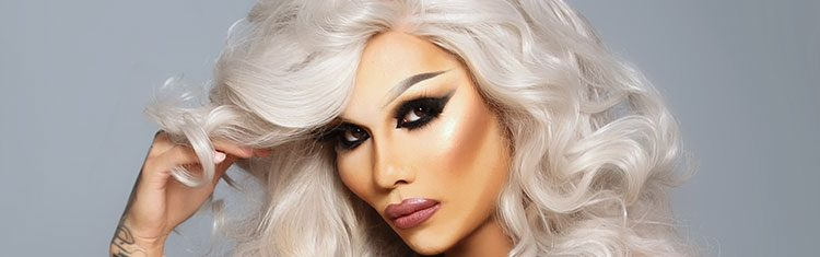 Closeup of Kimora Blac's makeup.